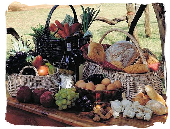 Healthy country food - South Africa cuisine.