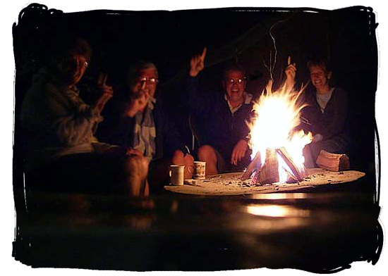 Sitting around the fire after the braai - South African barbecue tips and ideas