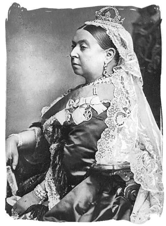 Her majesty queen Victoria who reigned Great Britain and its colonies from 1837 until 1901- Colonial history of South Africa