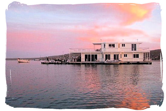 The Park's Houseboats are permanently moored accommodations floating on the Lagoon - West Coast National Park Accommodation, South Africa National Parks