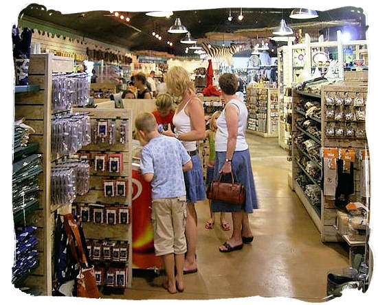 Inside the camp's well-stocked shop and grocery store - Satara Rest Camp in the Kruger National Park South Africa