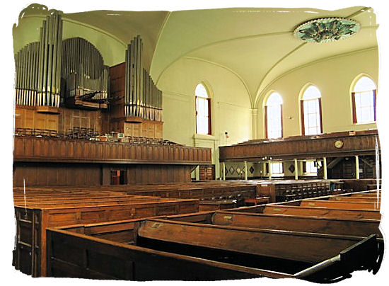 Interior of the Groote Kerk in Adderleystreet Cape Town - Religions in South Africa, South Africa religion overview