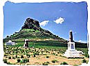 The Isandhlwana battlefield with monument
