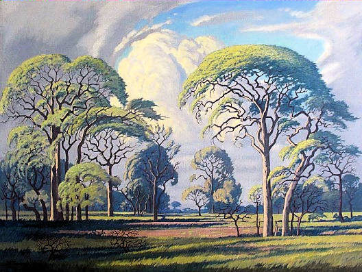 Bushveld landscape painting by Jacobus Hendrik Pierneef (1886-1957) - South African Art, Art Galleries in South Africa, South African Artists