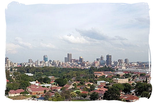 Skyline of Johannesburg on a summer afternoon - Johannesburg Weather Forecast and Conditions