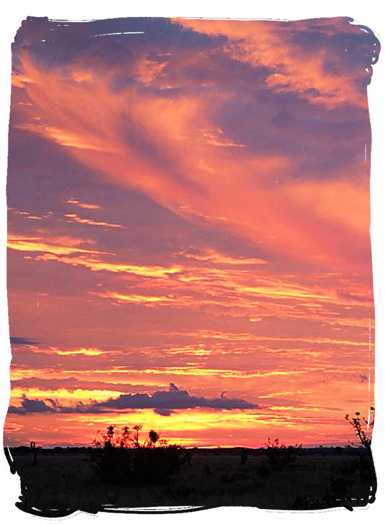 Sunset in the kalahari - Urikaruus Wilderness Camp, Kgalagadi Transfrontier Park