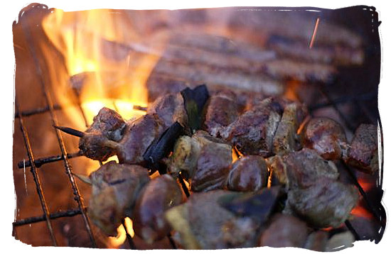One can almost smell the aroma of these sizzling kebabs - South African barbecue tips and ideas