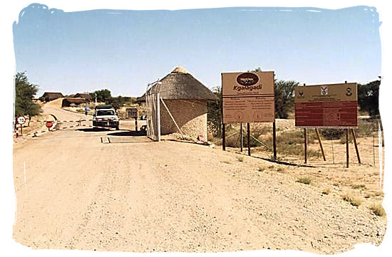 Entrance to the Kgalagadi at Twee Rivieren - Kalahari Camp, Kgalagadi Transfrontier Park, South Africa