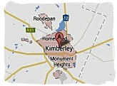 Map of Kimberley, South Africa