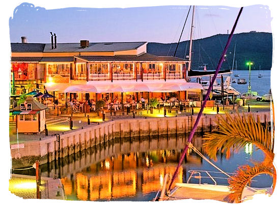 The Knysna lagoon waterfront - Knysna, Garden Route in South Africa
