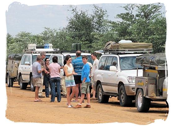 Tourists on a self-drive safari trip - Marakele National Park accommodation