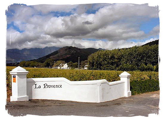 La Provence, one of the oldest wine estates in the Franschhoek valley - The French Huguenots and the Huguenot Museum in South Africa