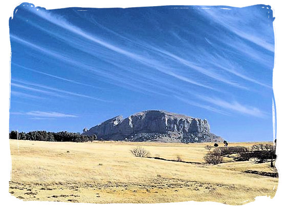 Landscape near the town of Clarens, 20km from the Golden gate park