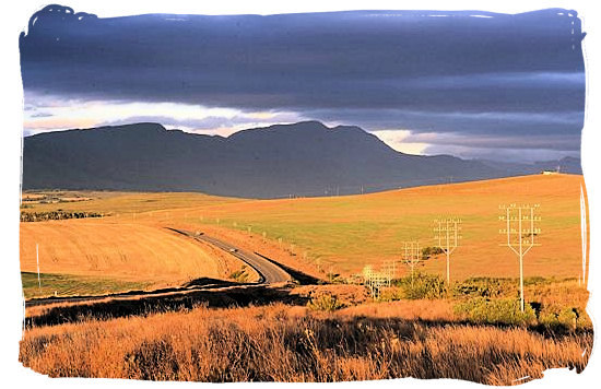 The N2 highway not far from the Bontebok National Park