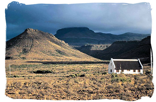Landscape in the Southern Cape - The Cape Mountain Zebra National Park, endangered Mountain Zebras