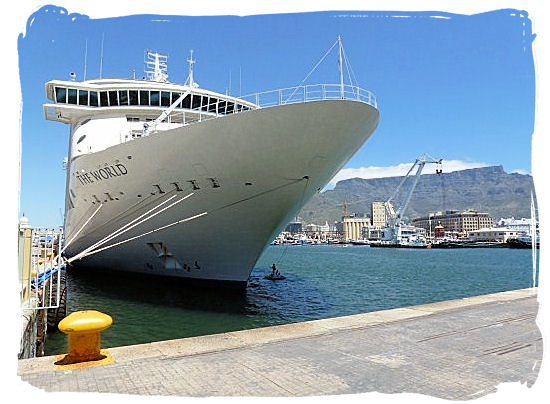 The World, a large cruise ship visiting Cape town - City of Cape Town South Africa, Tours and Travel Guides