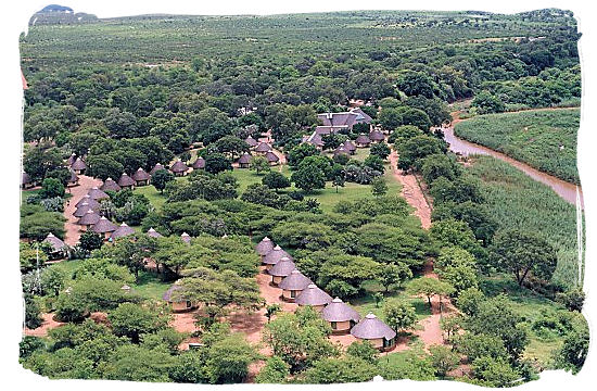Aerial view of Letaba rest camp in the Kruger National Park