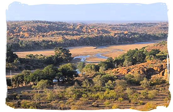 The Limpopo river, border between South Africa and Botswana - Mapungubwe National Park, cultural landscape, region, ruins