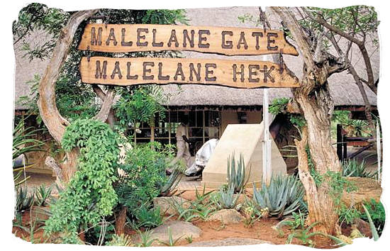 Berg en Dal Rest Camp, Kruger National Park, South Africa - Malelane gate, entrance to the Kruger National Park
