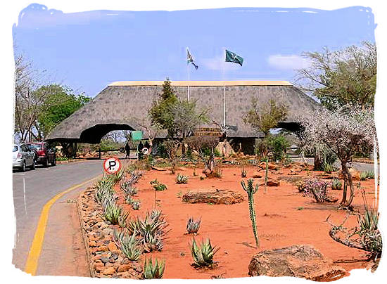 Malelane gate, sourthernmost entrance to the Kruger National Park