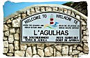 Welcome sign of the town of L'Agulgas