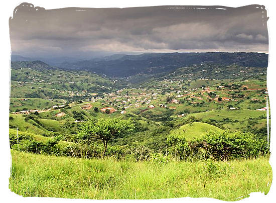 The Valley of a Thousand Hills in the heart of Zululand not far from Durban
