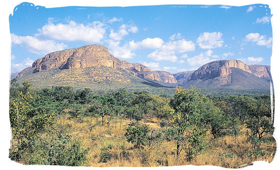 Part of the Waterberg mountain range - Marakele Park in South Africa