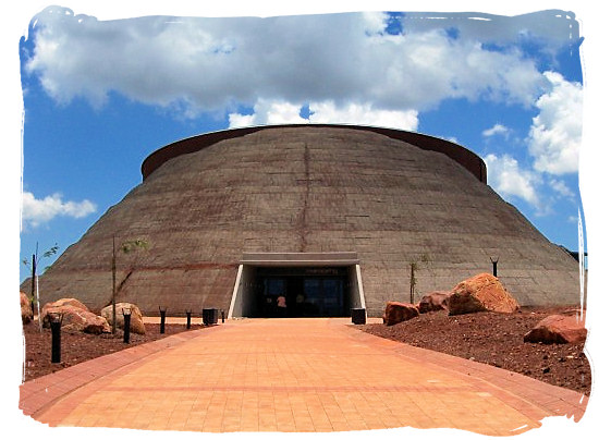 Front view of the state-of-the-art Maropeng museum and visitors' centre at the Cradle of Humankind World Heritage Site in Gauteng - Mpumalanga Museums in South Africa