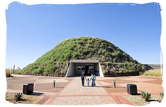 The Maropeng official visitor centre of the Cradle of Humankind at the Sterkfontein Caves.