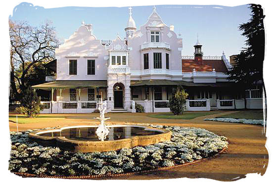 Melrose House in Pretoria, where the peace treaty of Vereniging was signed on the 31st of May 1902.