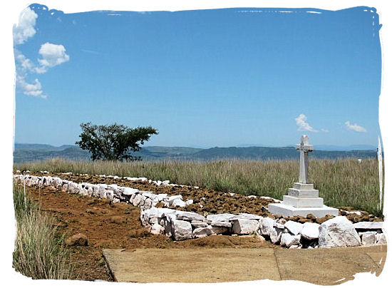 British graves at the site of the Battle of Spioenkop - Anglo Boer war battlefields tours in South Africa.