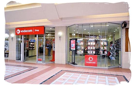 Modern mobile phone shop