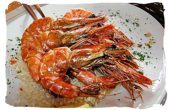 Mozambique Prawns - South African food adventure, South Africa food