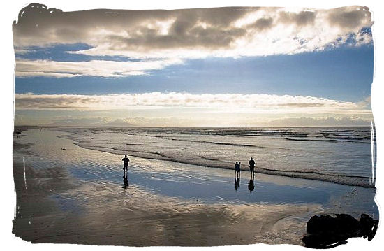 Daybreak over the vast expanse of Muizenberg beach - Beaches of Cape Town South Africa, Best South African Beaches