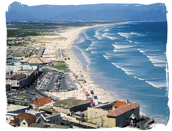 The beautiful Muizenberg beach with the longest surf break in the Cape Peninsula - Cape Town holiday attractions, Table Mountain National Park