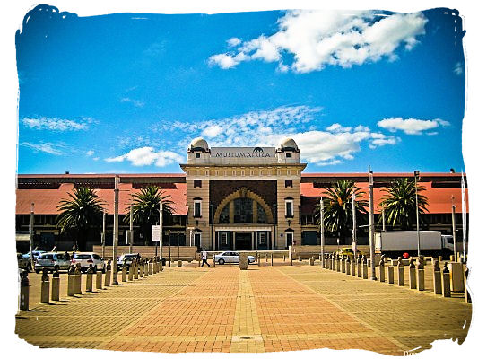 The main entrance to the Museum Africa in Newtown, Johannesburg, South Africa, showcase of the African continent's magnificent ancient past - City of Johannesburg South Africa Attractions, the Top 15