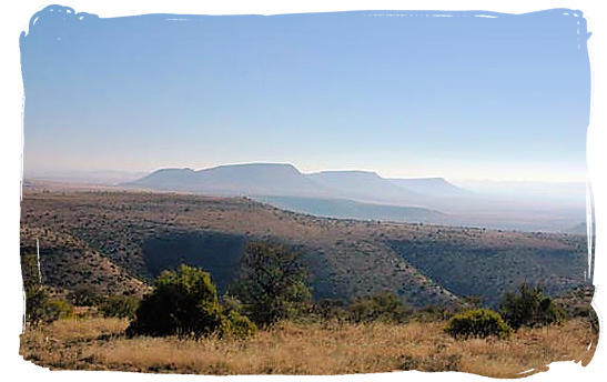 Landscape of the Mountain Zebra National Park, home to the endangered Mountain Zebras