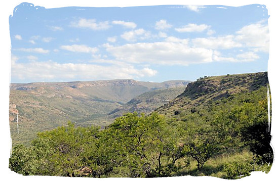 One of the beautiful views in of the landscape in the MZNP - The Cape Mountain Zebra National Park, endangered Mountain Zebras