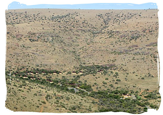The lie of the main restcamp in the Park - about the Cape Mountain Zebras in the Mountain Zebra National