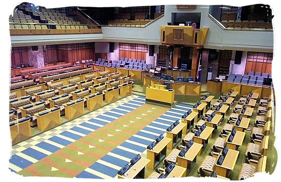 The chamber of the National Assembly of South Africa - South Africa Government, South Africa Government type