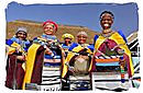 Ndebele women in traditional coloured beadwork dress