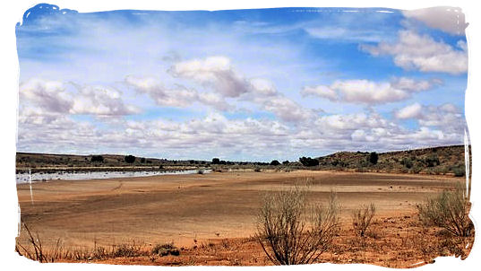 The Nossob river near Twee Rivieren - Kgalagadi Park in the Kalahari, South Africa