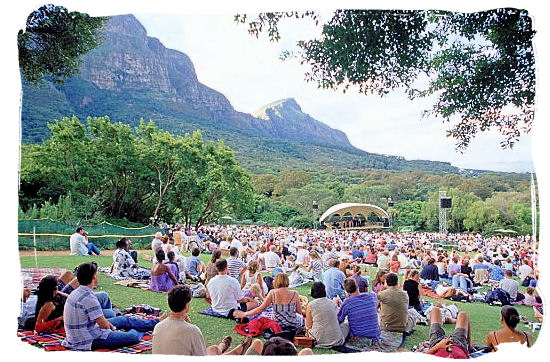 During the summer Kirstenbosch offers open-air concerts on Sunday evenings - Kirstenbosch Botanical Gardens, Home to Stunning Protea flowers