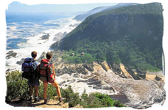 Backpackers on the Otter hiking trail in the Tsitsikamma National Park - South Africa Tours, Best Safari Tours of South Africa