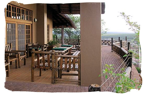 Olifants Restcamp, Kruger National Park, South Africa - Outdoor area of Nshawu guest house with stunning view