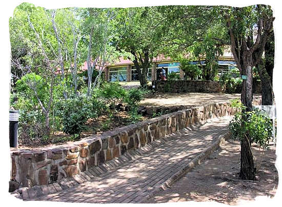 Olifants Restcamp, Kruger National Park, South Africa - Path running from the shaded lookout to the cafeteria in the background