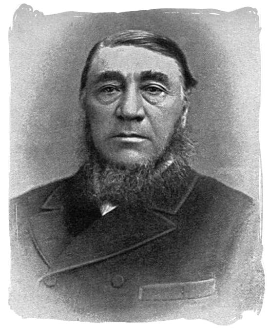 Paul Kruger (1825-1904), was president of the South African Republic (Zuid Afrikaansche Republiek, or ZAR) - Anglo Boer War in South Africa