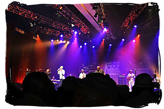Afro-Jazz band on stage at the Cape Town Jazz Festival - Festivals of South Africa