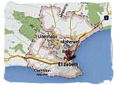 Map of Port Elizabeth, South Africa