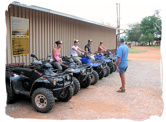 A last round of instructions before taking off on a Quad Bike trip - Activity Attractions in Cape Town South Africa and the Cape Peninsula